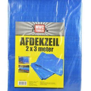Blauw afdekzeil 2x3 meter 75 gram per m2 MVC-tools