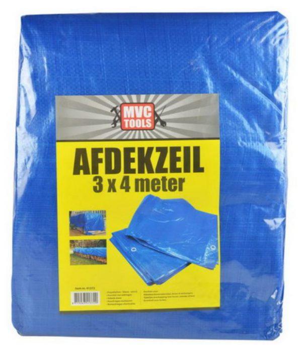 Blauw afdekzeil 3x4 meter 75 gram per m2 MVC-tools