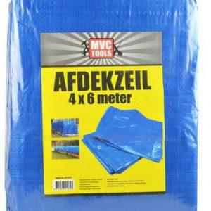 Blauw afdekzeil 4x6 meter 75 gram per m2 MVC-tools