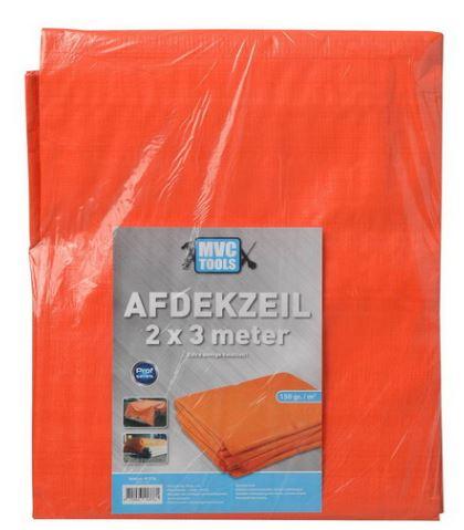 Oranje afdekzeil 2x3 meter 150 gram per m2 MVC-tools