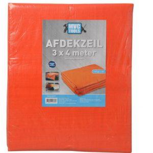 Oranje afdekzeil 3x4 meter 150 gram per m2 MVC-tools