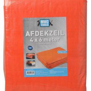 Oranje afdekzeil 4x6 meter 150 gram per m2 MVC-tools