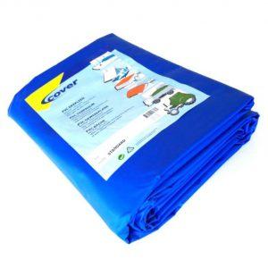 Opgevouwen blauw PVC dekleed 600 gram van het merk Cover
