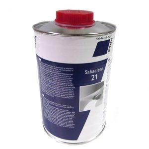 Sabaclean 21 1-liter ontvetter en schoonmaakmiddel voor Saba lijm