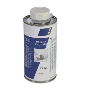 Sabaclean PVC & ABS 250ML voor het schoonmaken en ontvetten van PVC, ABS en PVC folie