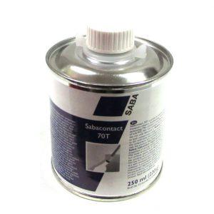 Sabacontact 70T 250ML voor het lijmen van zacht PVC folie