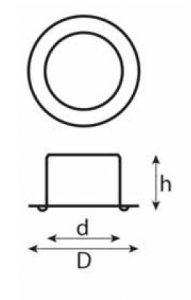 Prym zeilringen B-standaard afmetingen